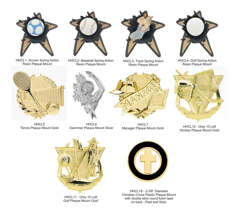 Plaque Mount Emblems - Closeout
