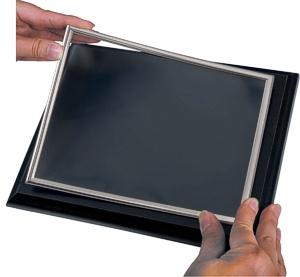 Silver Frames Plaque Covers - Maximum Frame Size