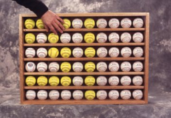 60 Ball Baseball Display